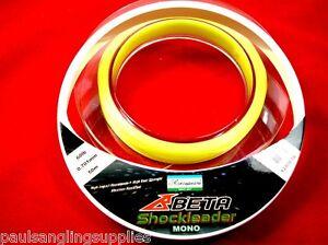Shakespeare-60lb-Yellow-Beta-Shockleader-Line-Shock-Leader-for-Sea-Fishing-Reel