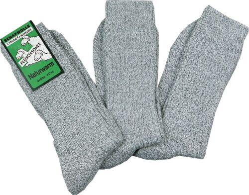 Norweger Socken Gesundheitssocken Plüschsohle ohne Gummi 30/% Wolle Socken 6 Paar