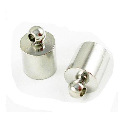 Charming Beads Paket 30 x Gemischt Messing Auflage 8 x 12mm Endkappen Kumihimo HA12035