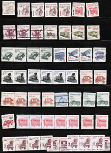 US-Transportation-Mint-amp-USED-Coil-Stamps-Collection