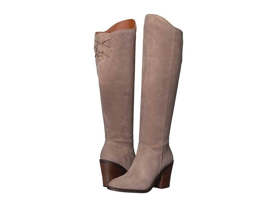 Lucky Lucky Lucky Brand Pembe Brindle Leather Asymmetrical Over The Knee Block Heel Boot ebfb44