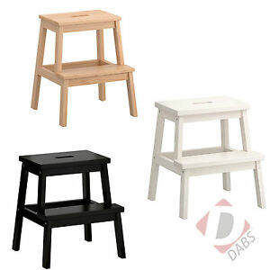 ikea bekvam holz tritthocker neu einfarbig buche holz k che stufenleiter. Black Bedroom Furniture Sets. Home Design Ideas