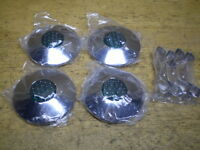 Postwar & Prewar Bicycle Green Reflector Chrome Hub Caps Shelby Monark Higgins &