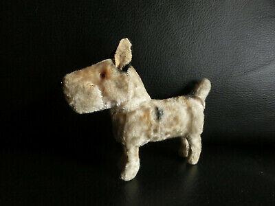 Kleiner PappmachÈ Hund Terrier Mit SeidenplÜsch Bezogen 8 X 10 Cm Deko F. Puppe Exquisite Traditionelle Stickkunst