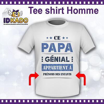 Tee-Shirt personnalisé CE PAPA GÉNIAL Fête