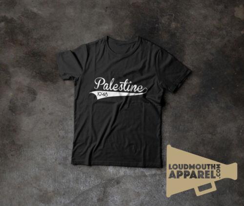 1948 Free Palestine Varsity Style T-Shirt Graphic Cotton Crew Neck