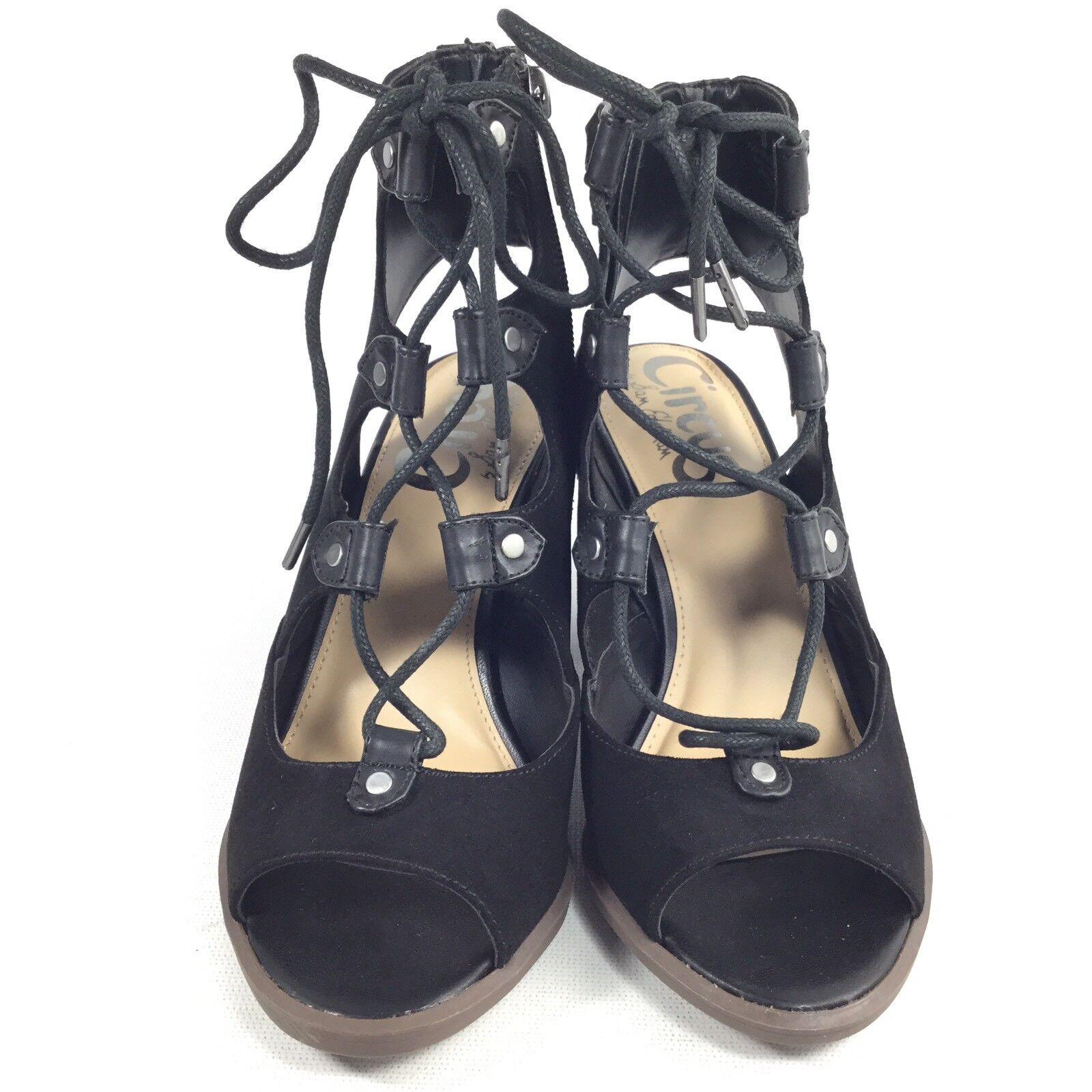 Circus By Sam Edelman Edelman Edelman Kiera Womens Size 5.5 M Black Heel Gladiator Sandals bc8a8f