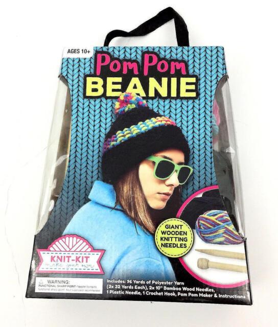 Buy Knitting Kit Make Your Own Hat Bamboo Wood Needles Fb20859 Craft ... 325154c5afe