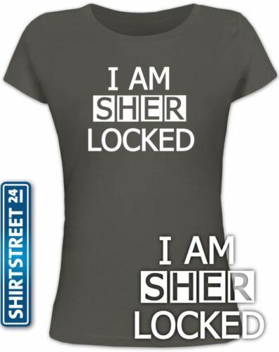 Shirtstreet24 Sherlock Holmes Girlie Fun Shirt Fun Shirts I AM SHER LOCKED