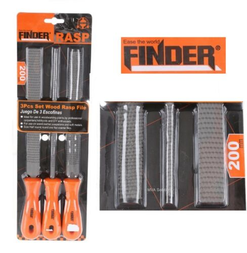 "FINDER 3pc Professional Wood Rasp File Set 8"" 200mm 195924#"