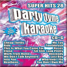 Party Tyme Karaoke: Super Hits, Vol. 28 by Karaoke (CD, Oct-2016, Sybersound Records)