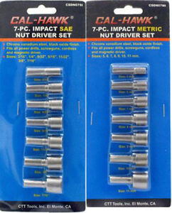 """5 Piece GOLIATH INDUSTRIAL TOOL 3//8/"""" Magnetic nut driver setter Quick change"""