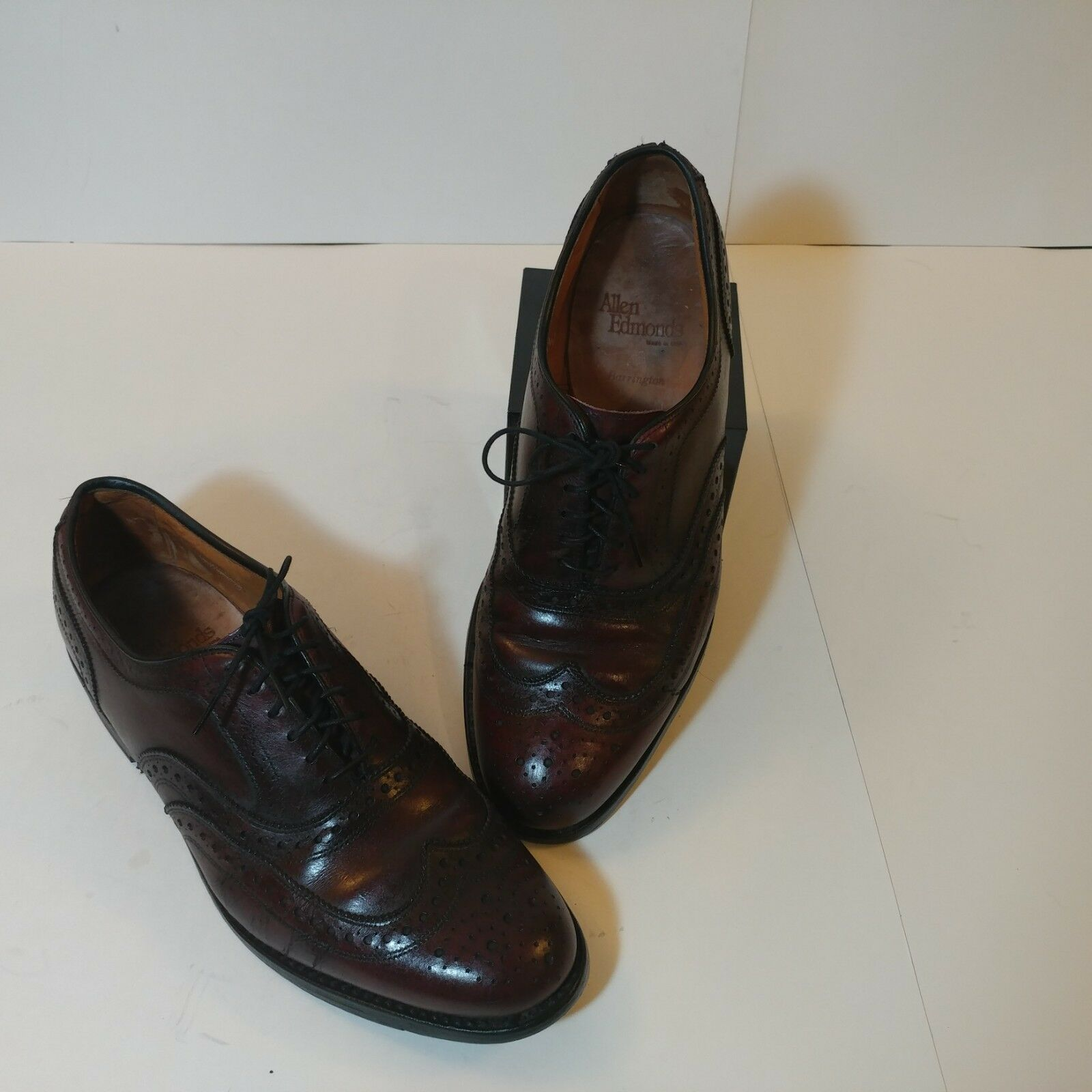 Allen Edmonds Barrington Wingtip Mens Leather shoe Merlot Size 9 1 2 C 5471