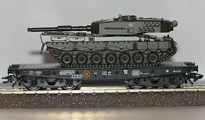 Trix H0 24211-02 Schwerlastwagen der DB mit Leopard-Panzer Neu