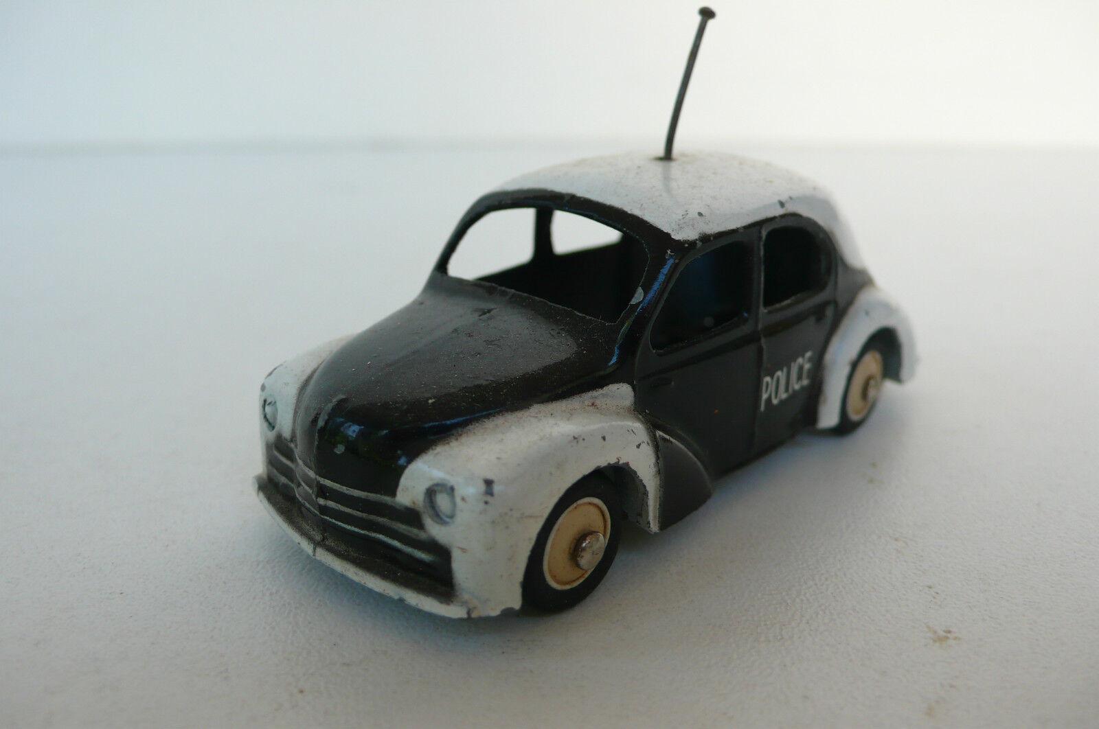 CIJ   RENAULT 4 CV  POLICE  BON ÉTAT     1956  REF 3.49  1er TYPE