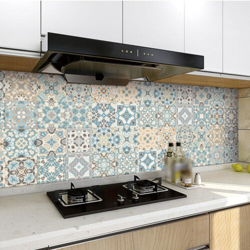 PVC Self-adhesive Mosaic Tile Stickers Waterproof Bathroom Wall Decal Home Decor