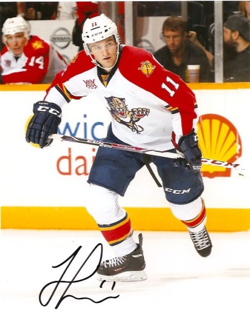 Florida Panthers Jonathan Huberdeau Signed Autographed 8x10 Photo COA B