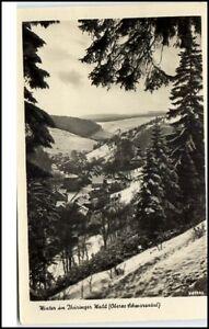 Oberes-Schwarzatal-Thueringen-DDR-Postkarte-1961-mit-Stempel-Scheibe-Alsbach-gel