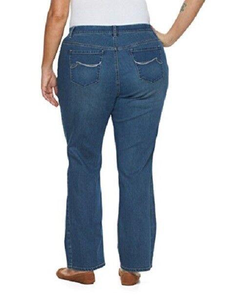 2c88607b09a Gloria Vanderbilt Jordyn Curvy Barely Boot Embellished Blue Jeans 24w for  sale online | eBay