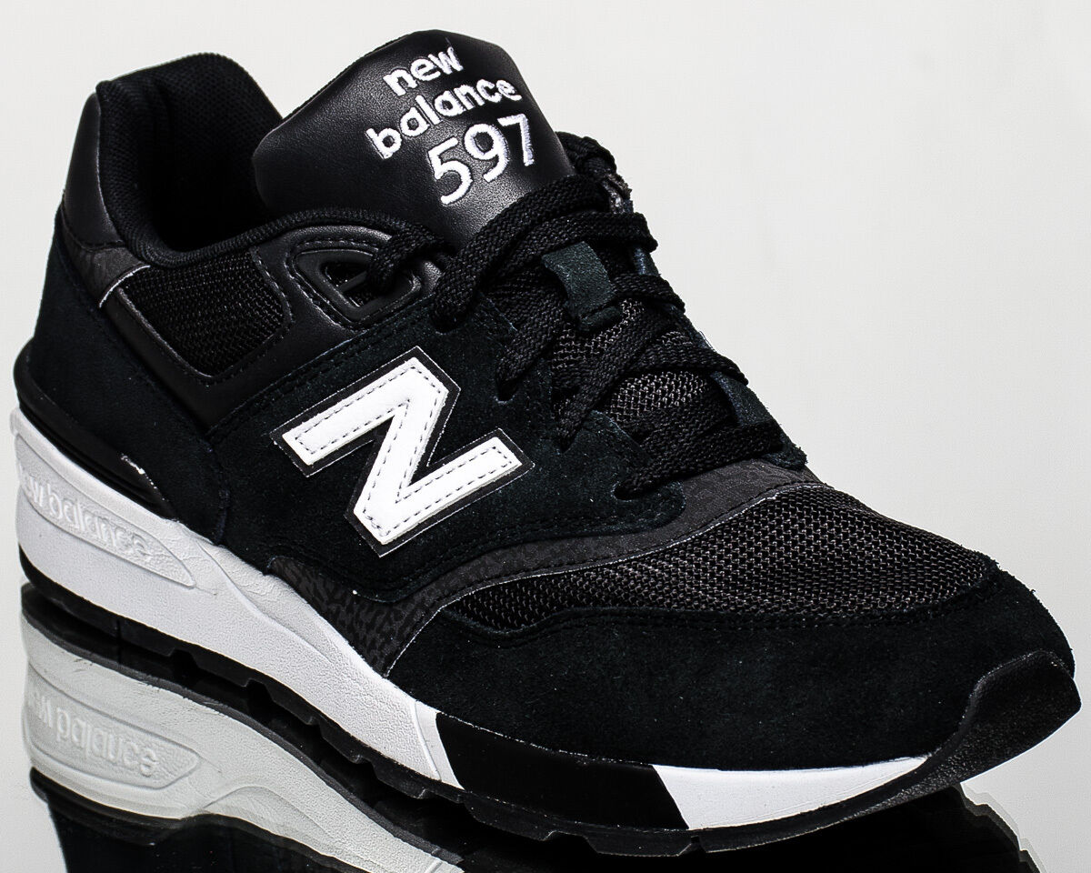 New Balance 597 NB NB597 men lifestyle casual sneakers NEW black white ML597-AAC
