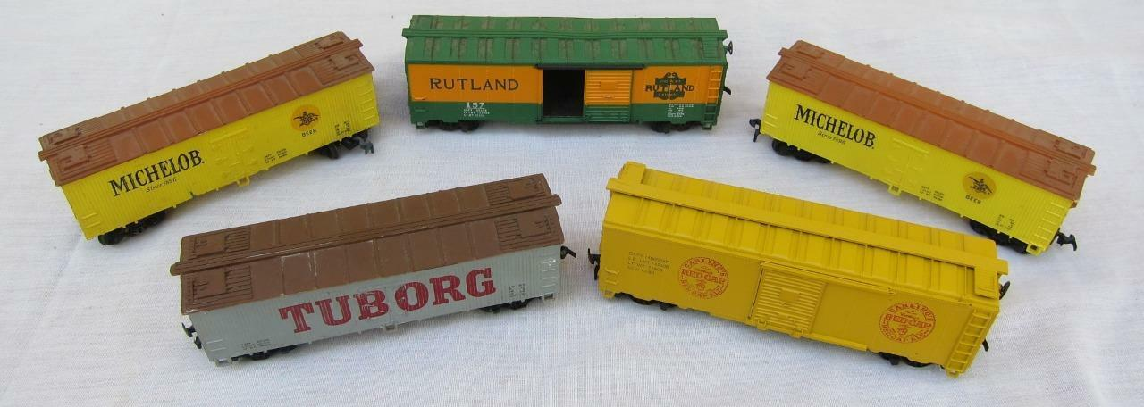 Lot of 5 Athearn HO Scale Miniature Beer Reefer Tuborg Rutland Red Cap Michelob