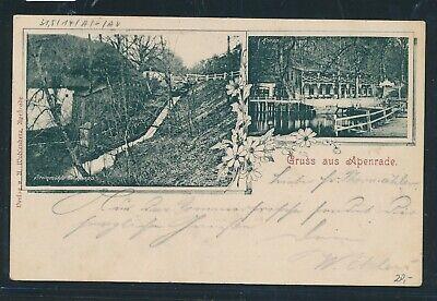 KöStlich 4943) Ak Gruss Aus Apenrade Steinmühle 1900 + Bahnpost A. - Gravenstein Zug 9