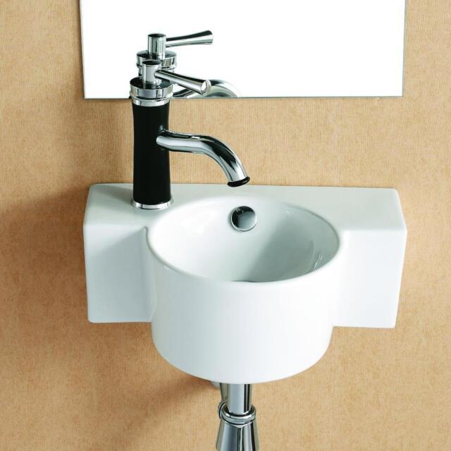 klein Gäste WC Wand Hänge waschbecken Waschtisch Wandmontage Aufsatzbecken 40 cm