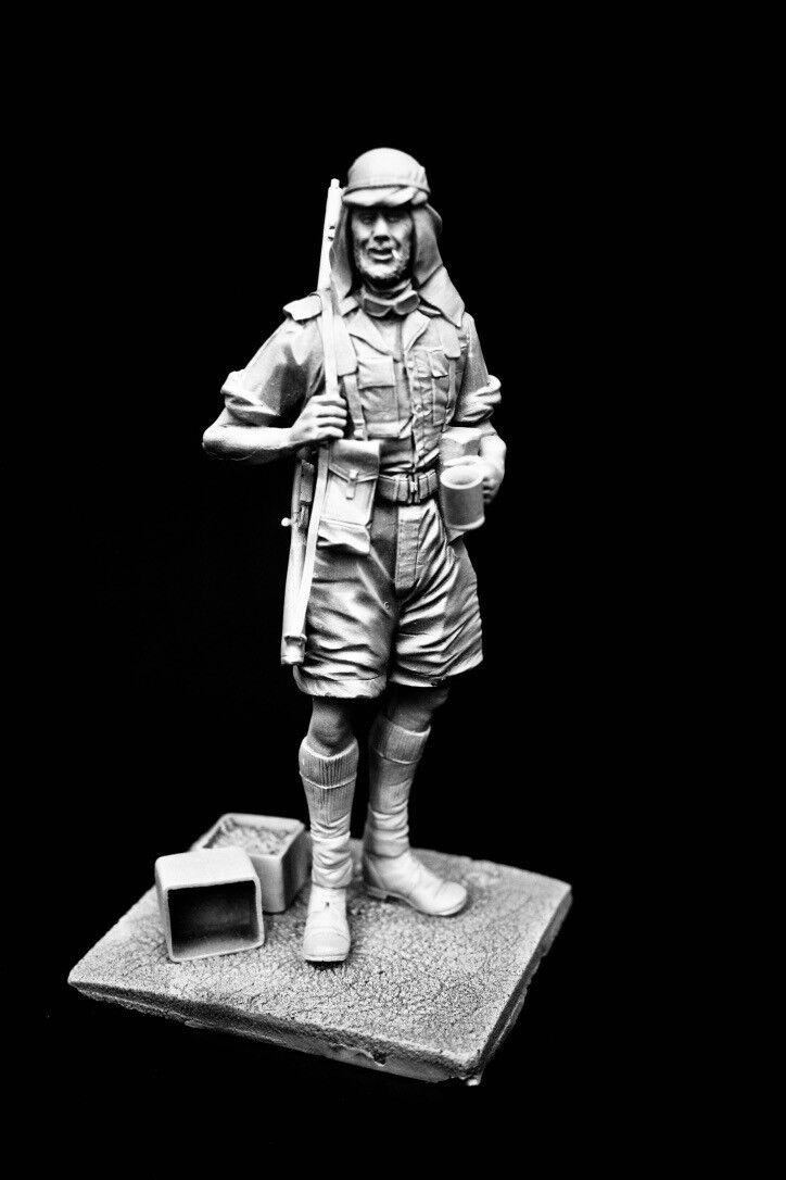 120mm 1 16 WWII Western Desert SAS   LRDG, sculpted by Maurice Corry