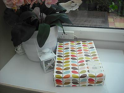 2 x USED ORLA KIELY A4 STORAGE BOXES