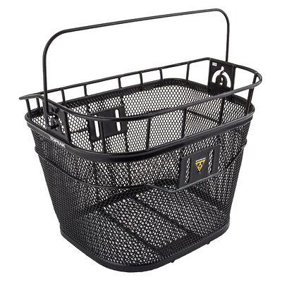 Black Topeak Front Basket with Fixer 3 Handlebar Bracket