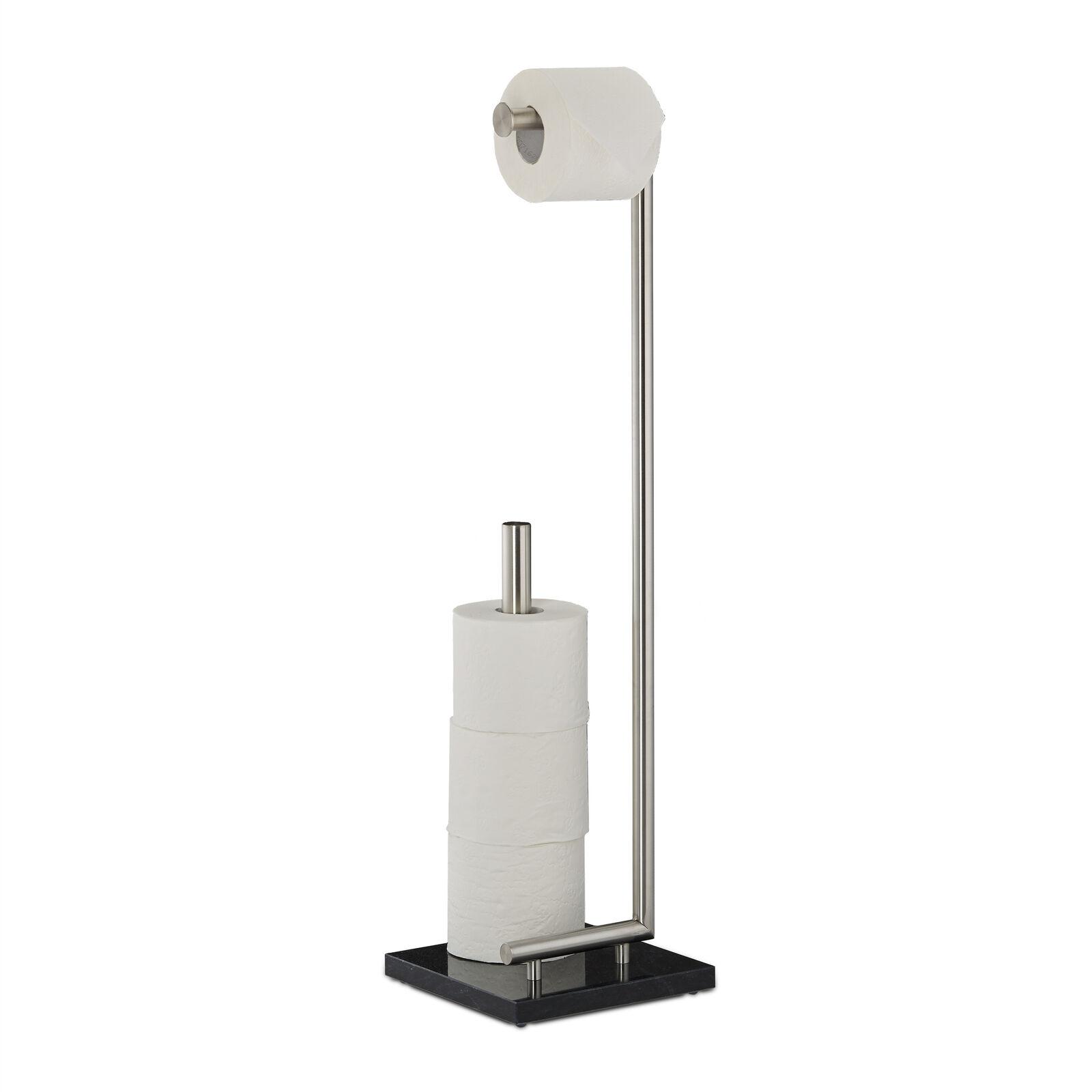 Toilettenpapierhalter PIERRE KlGoldllenhalter Klopapierhalter freistehend Marmor