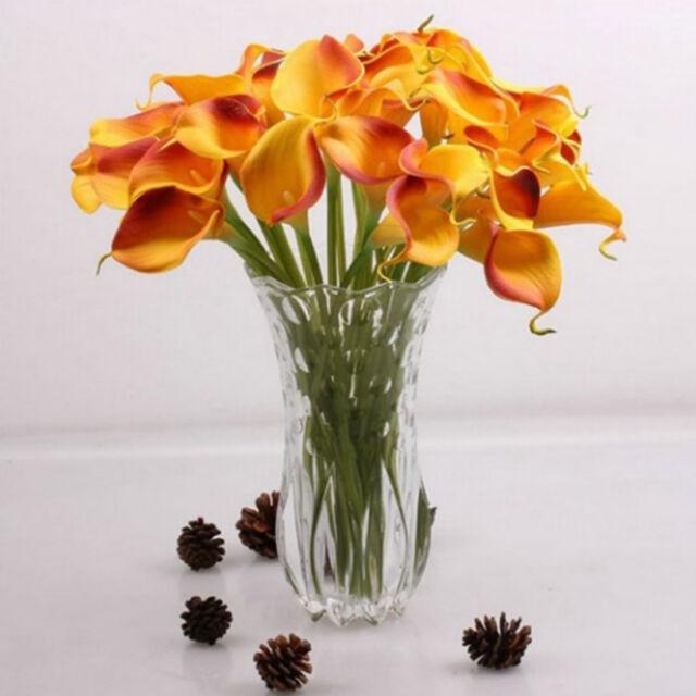 Artificial Silk Flower Calla Lily Spray 36 Wine Color By 2