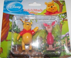 Winnie the Pooh & Piglet SET of 2 Pooh & Friends Figurines Disney 2 inch Figures
