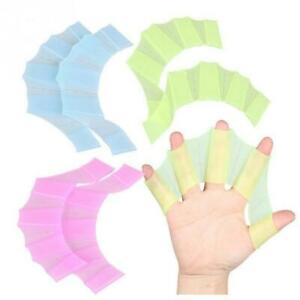 Silikon-Handschwimmflossen-Flippers-Swim-Palm-Finger-Webbed-Gloves-Paddle-Favor