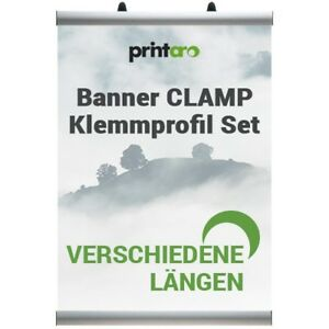 Banner-CLAMP-Klemmprofil-Set-in-verschiedene-Laengen