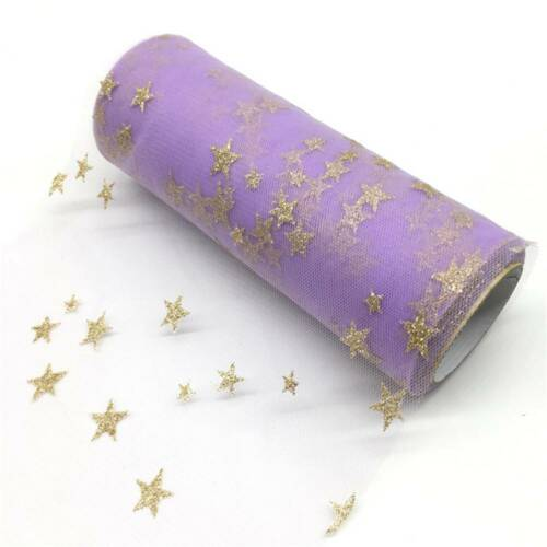 Star Tulle Paillettes Tulle Mesh Rouleau Bobine Tutu Pom Mariage Decor environ 9.14 m 15 cm À faire soi-même 10 Yd