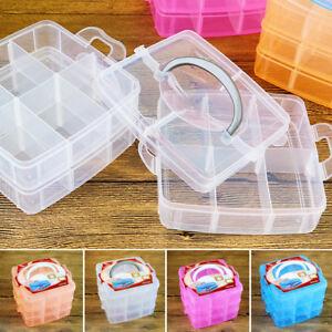 3layer Plastic Jewelry Bead Organizer Box Detachable Storage