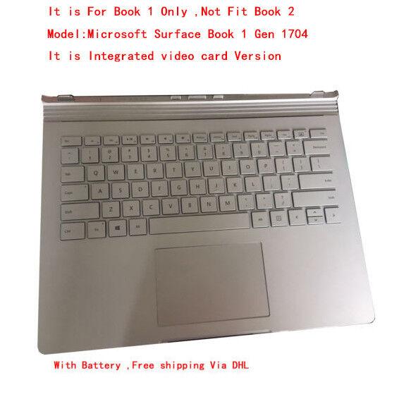 Genuine Microsoft Surface Book 1 Keyboard Palmrest Battery Base Model 1704