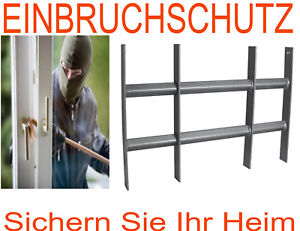 Stahl fenstergitter protect gitter einbruchschutz sicherheitsgitter fenster zink ebay - Gitter fenster einbruchschutz ...