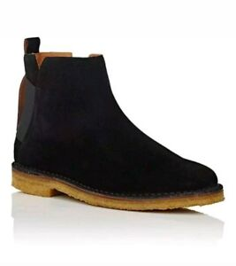 Barneys-New-York-Elastic-Detailed-Suede-Jodhpur-Chelsea-Boots-Mens-Size-9M