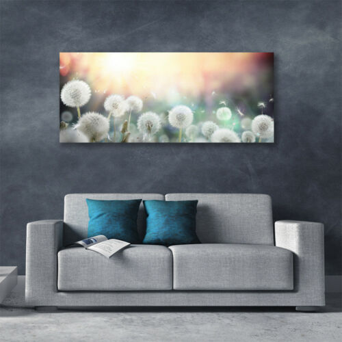 Canvas print Wall art on 125x50 Image Picture Dandelion Floral