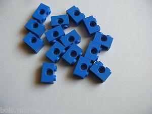 15 briques techniques bleue 1 x 2 Lego 15  blue technic brick 1 x 2
