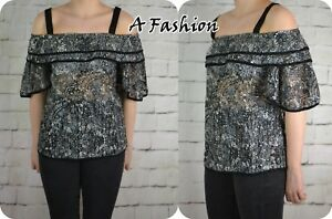 NEXT-NEW-LADIES-BLACK-LACE-TOP-UK-SIZE-10-TO-22-AVAILABLE-997