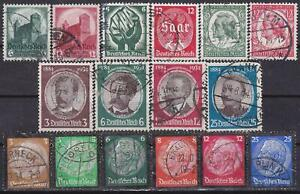 Nazi-3rd-Reich-16-Rarer-Issues-1934-Cancelled