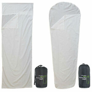 Image Is Loading Poly Cotton Sleeping Bag Liner Mummy Envelope Camping