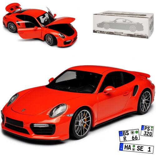 Porsche 911 991 Turbo S Coupe Orange 2013-2019 limitiert 504 Stück 1//18 Minicham