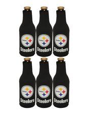 item 7 Pittsburgh Steelers NFL Black Zippered 12oz. Bottle Koozie Cooler  6ct Lot -Pittsburgh Steelers NFL Black Zippered 12oz. Bottle Koozie Cooler  6ct Lot 96c4dddc0