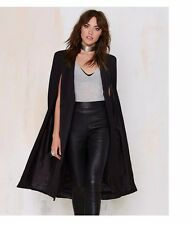 Black Cape Jacket Goth Punk Fashion Womens Small Harajuku Juniors Clubwear Style