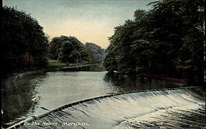 Maryhill-Maryhull-Schottland-Scotland-Glasgow-1910-River-Fluss-Kelvin-Natur