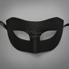 Classic Black Masquerade Mask for Men